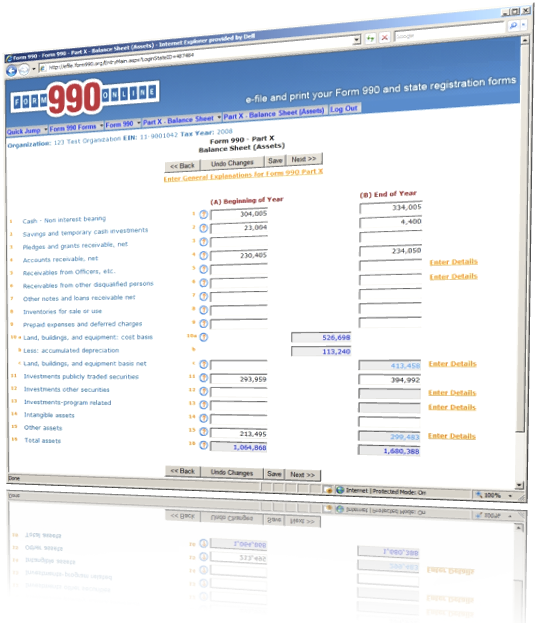 Form 990 Online